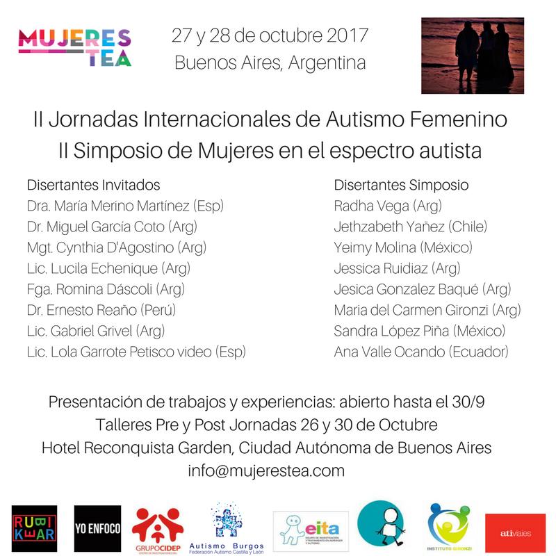 II Jornadas Internacioanales de Autismo FemeninoII Simposio de Mujeres en el espectro autista